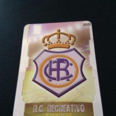 Cromos de Fútbol: LAS FICHAS LIGA 2009 MUNDICROMO - RECREATIVO DE HUELVA: ESCUDO PUNTAS REDONDAS BRILLO LISO (Nº 406). Lote 95712187