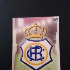 Cromos de Fútbol: LAS FICHAS LIGA 2009 MUNDICROMO - RECREATIVO DE HUELVA: ESCUDO PUNTAS CUADRADAS SIN BRILLO (Nº 406). Lote 95712227