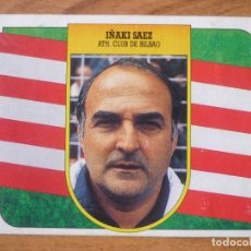 Cromos de Fútbol: CROMO ALBUM LIGA ESTE 91 92 IÑAKI SAEZ (ATHLETIC CLUB BILBAO) ENTR - CARTON LEVE DESPEGADO 1991 1992. Lote 95763915