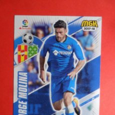 Cromos de Fútbol: MEGACRACKS 2017 2018 - 260 JORGE MOLINA - GETAFE - PANINI - MGK 17 18. Lote 101196935