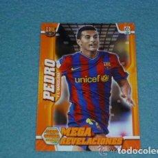 Cromos de Fútbol: MEGACRACKS 2010/11 - 403 PEDRO ( CORREGIDO CON ESCUDO ) - FC. BARCELONA - 10 11. Lote 195261030