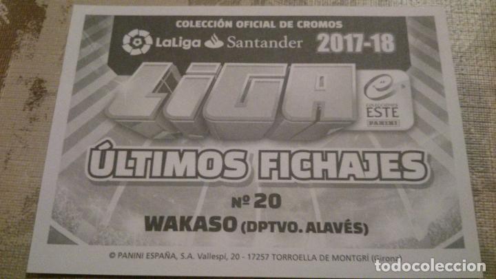 ALAVES nº20 liga 2017 2018 panini este faltas Cromo futbol WAKASO DPTVO
