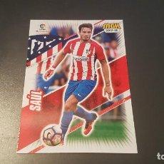 Cromos de Fútbol: MEGACRACKS MGK PANINI 2017 2018 CARD 66 SAUL ATLETICO DE MADRID 17 18. Lote 95949295