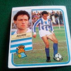 Cromos de Fútbol: AGUIRRE REAL SOCIEDAD ED ESTE 89 90 CROMO FUTBOL LIGA 1989 1990 TEMPORADA - SIN PEGAR - 100. Lote 96085255