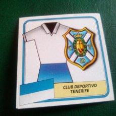 Cromos de Fútbol: ESCUDO TENERIFE ED ESTE 89 90 CROMO FUTBOL LIGA 1989 1990 TEMPORADA - SIN PEGAR - 102. Lote 96085291