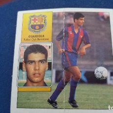 Cromos de Fútbol: 92/93 ESTE. NUNCA PEGADO BARCELONA GUARDIOLA CON MARCA DOBLEZ CENTRAL. Lote 96741363
