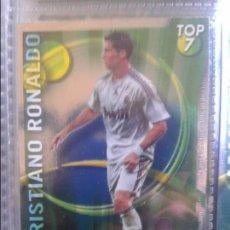 Cromos de Fútbol: 596 CRISTIANO RONALDO TOP VERDE BRILLO LISO REAL MADRID CROMOS MUNDICROMO QUIZ GAME 2010 2011. Lote 97280423