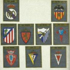 Cromos de Fútbol: 12 CROMOS DE ESCUDOS DE EQUIPOS ALBUM FUTBOL 89 DE PANINI - NUEVOS . Lote 97403271