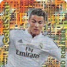 Cromos de Fútbol: MUNDICROMO 2015 GOLDSTAR 23/45 CRISTIANO RONALDO (REAL MADRID) TETRIS METALCARD LIMITED EDITON. Lote 255451240