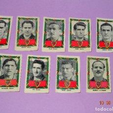 Cromos de Fútbol: LOTE DE 9 ANTIGUOS CROMOS DE OSASUNA DEL ALBUM CAMPEONATOS NACIONALES FUTBOL 1953-54 RUIZ ROMERO. Lote 97619771