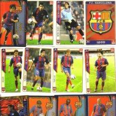 Cromos de Fútbol: 12 CROMOS EQUIPO DEL BARCELONA LIGA 2004-05 (REVERSO CON FOTOGRAFIA Y FICHA DEL JUGADOR ) - NUEVOS . Lote 97638107