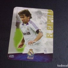 Cromos de Fútbol: 25 RAUL, REAL MADRID, MATE PUNTAS REDONDAS, FICHAS DE LA LIGA 2009 MUNDICROMO. Lote 193648560