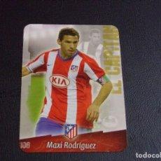 Cromos de Fútbol: 106 MAXI RODRIGUEZ, ATLETICO DE MADRID, MATE PUNTAS REDONDAS, FICHAS DE LA LIGA 2009 MUNDICROMO. Lote 98026907