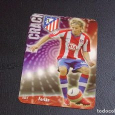 Cromos de Fútbol: 107 FORLAN, ATLETICO DE MADRID, MATE PUNTAS REDONDAS, FICHAS DE LA LIGA 2009 MUNDICROMO. Lote 98026943