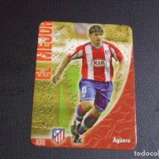 Cromos de Fútbol: 108 AGÜERO, ATLETICO DE MADRID, MATE PUNTAS REDONDAS, FICHAS DE LA LIGA 2009 MUNDICROMO. Lote 98027003