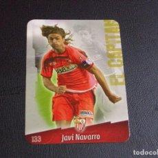 Cromos de Fútbol: 133 JAVI NAVARRO, SEVILLA, MATE PUNTAS REDONDAS, FICHAS DE LA LIGA 2009 MUNDICROMO. Lote 98027259