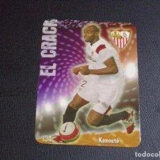 Cromos de Fútbol: 134 KANOUTE, SEVILLA, MATE PUNTAS REDONDAS, FICHAS DE LA LIGA 2009 MUNDICROMO. Lote 98027295