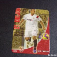 Cromos de Fútbol: 135 LUIS FABIANO, SEVILLA, MATE PUNTAS REDONDAS, FICHAS DE LA LIGA 2009 MUNDICROMO. Lote 98027339