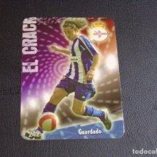 Cromos de Fútbol: 242 GUARDADO, DEPORTIVO DE LA CORUÑA, MATE PUNTAS REDONDAS, FICHAS DE LA LIGA 2009 MUNDICROMO. Lote 98027971