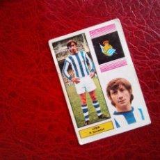 Cromos de Fútbol: LEMA REAL SOCIEDAD ED FHER DISGRA 74 75 CROMO FUTBOL LIGA 1974 1975 - SIN PEGAR - 43. Lote 98438531
