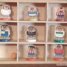 Cromos de Fútbol: CROMOS SUBBUTEO PREMIUM BIMBO ORIGINAL AÑOS 70 JUGADOR FUTBOL,ARBITRO,CON BASE PEANA. Lote 99438027