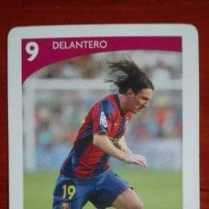 Cromos de Fútbol: MESSI CARTA BARAJA FOURNIER OFICIAL F.C. BARCELONA 2006. Lote 100071747