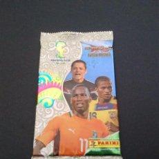 Cromos de Fútbol: SOBRE DE CROMOS SIN ABRIR ADRENALYN XL MUNDIAL BRASIL 2014-CHICHARITO (MÉXICO), DROGBA (COSTA MARFIL. Lote 100395111
