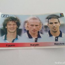 Cromos de Fútbol: CROMO TRIPLE BOLLYCAO LIGA 1998-99 - KARPIN, EGGEN Y REVIVO (CELTA DE VIGO) NÚMERO 27. Lote 100397871