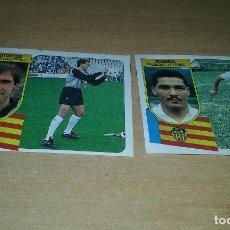 Cromos de Fútbol: ESTE 91-92. COLOCA ROMMEL FERNANDEZ (VALENCIA) + OCHOTORENA. DESPEGADOS EN BUEN ESTADO. Lote 100524271