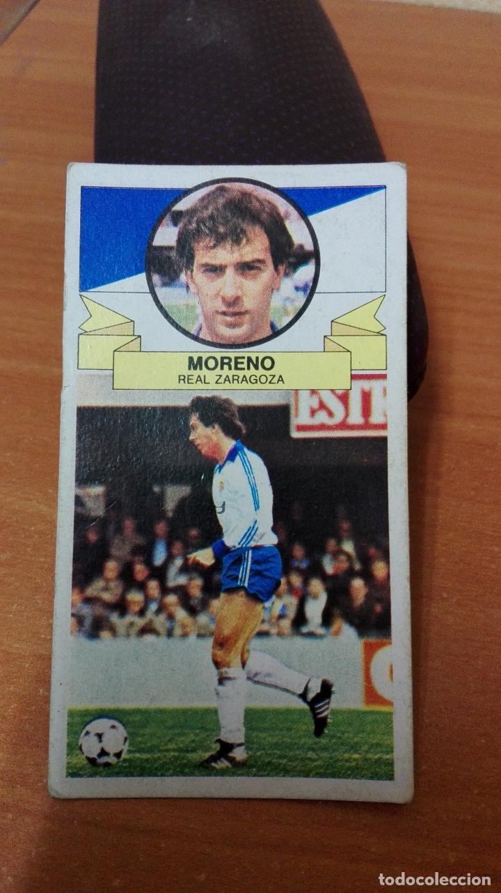 CROMO DE FUTBOL LIGA ESTE 85/86 ( MORENO ) REAL ZARAGOZA (Coleccionismo Deportivo - Álbumes y Cromos de Deportes - Cromos de Fútbol)