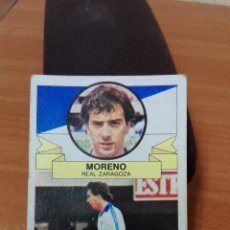 Cromos de Fútbol: CROMO DE FUTBOL LIGA ESTE 85/86 ( MORENO ) REAL ZARAGOZA. Lote 100550467