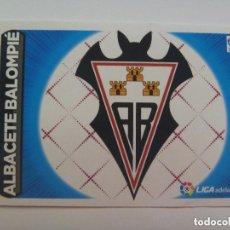 Cromos de Fútbol: PEGATINA DE FUTBOL LIGA 2014-15 : Nº 2 , ESCUDO LIGA ADELANTE , ALBACETE BALOMPIE.. Lote 296072238