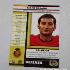 Cromos de Fútbol: CROMO CON ERROR, MARK IULIANO MUNDICROMO TOP 2005, UNA CARA CON BRILLO EN BLANCO SIN NADA. Lote 101168691