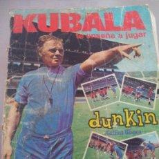 Cromos de Fútbol: KUBALA TE ENSEÑA A JUGAR FÚTBOL DUNKIN GALLINA BLANCA. Lote 101196827