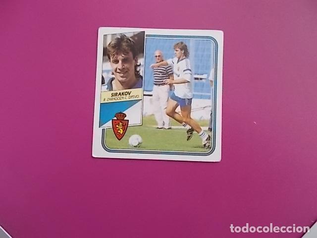 ESTE/ 89/90 / SIRAKOV / ZARAGOZA / NUNCA PEGADO (Coleccionismo Deportivo - Álbumes y Cromos de Deportes - Cromos de Fútbol)