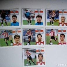 Cromos de Fútbol: LOTE 6 CROMOS ATHLETIC DE BILBAO LIGA ESTE 1999 - 2000. Lote 101730127