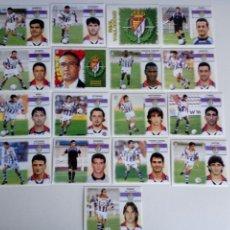 Cromos de Fútbol: LOTE 17 CROMOS VALLADOLID LIGA ESTE 1999 - 2000. Lote 101731299
