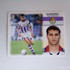 Cromos de Fútbol: KLIMOWICZ BAJA VALLADOLID LIGA ESTE 1999 - 2000.NUEVO. Lote 101731919