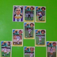 Cromos de Fútbol: LOTE DE 9 CROMOS DEL REAL VALLADOLID DE LA TEMPORADA 93/94 1993/1994 NUNCA PEGADOS. Lote 102654923
