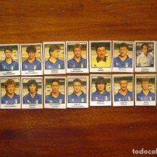 Cromos de Fútbol: REAL OVIEDO - 18 CROMOS - EQUIPO COMPLETO - PATERNINA LIGA 1991/92 91/92. Lote 103100643