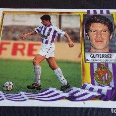 Cromos de Fútbol: ESTE 95/96 1995/1996 – FICHAJE 36 GUTIÉRREZ - REAL VALLADOLID ( NUNCA PEGADO ). Lote 103220831