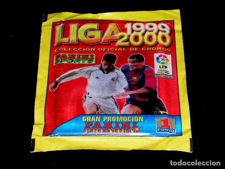 SOBRE CON SUS CROMOS, ALBUM LIGA 1999 2000, LICENCIA LFP, PANINI SPORTS. SIN ABRIR. (Coleccionismo Deportivo - Álbumes y Cromos de Deportes - Cromos de Fútbol)