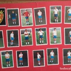 Cromos de Fútbol: FHER 68/69 ZARAGOZA LOTE DE 17 CROMOS DIFERENTES RECUPERADOS 1968/1969. Lote 103281575