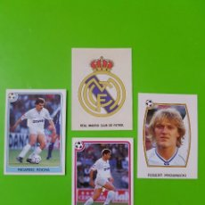 Cromos de Fútbol: LOTE DE 4 CROMOS DEL REAL MADRID DE LA TEMPORADA 92/93 1992/1993 NUNCA PEGADOS. Lote 103347607