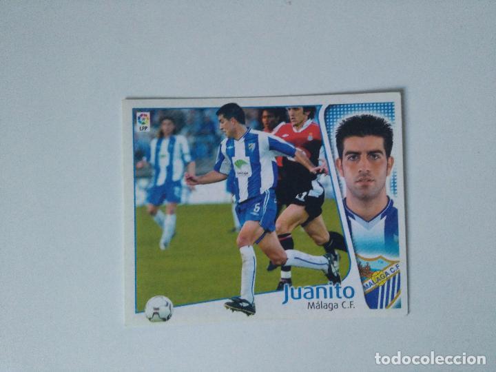 EDICIONES ESTE - LIGA 2004 2005 - MÁLAGA C.F. - JUANITO (Coleccionismo Deportivo - Álbumes y Cromos de Deportes - Cromos de Fútbol)