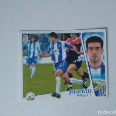 Cromos de Fútbol: EDICIONES ESTE - LIGA 2004 2005 - MÁLAGA C.F. - JUANITO. Lote 175782580