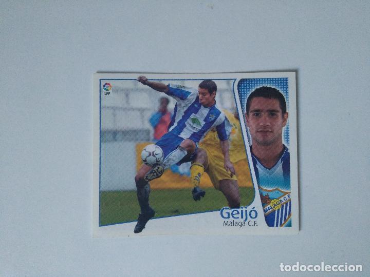 EDICIONES ESTE - LIGA 2004 2005 - MÁLAGA C.F. - GEIJÓ (Coleccionismo Deportivo - Álbumes y Cromos de Deportes - Cromos de Fútbol)
