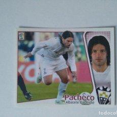 Cromos de Fútbol: EDICIONES ESTE - LIGA 2004 2005 - ALBACETE BALOMPIÉ - PACHECO. Lote 178245573