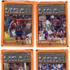 Cromos de Fútbol: LOTE DE 4 SOBRES DE CROMOS SIN ABRIR MUNDICROMO LIGA 1996-97 SEGUNDA DIVISIÓN. Lote 103896659