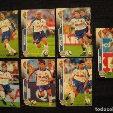 Cromos de Fútbol: LOTE 7 CROMOS - MEGA CRACKS 2005/06 - PANINI - REAL ZARAGOZA.. Lote 104323375